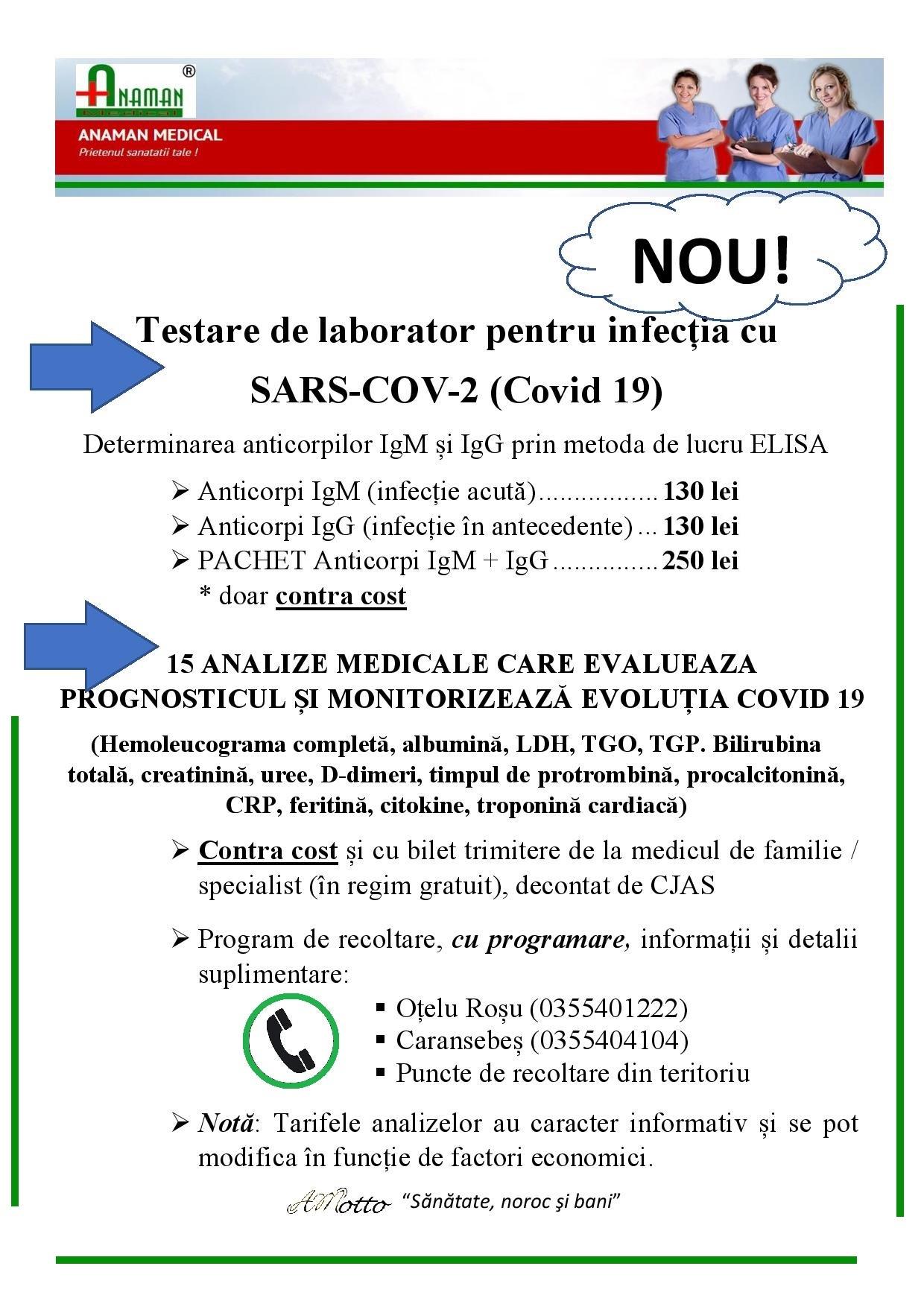 testare COVID-19 Anaman